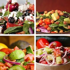 Four Simple Summer Salads Healthy Recipe Videos, Super Healthy Recipes, Healthy Foods To Eat, Healthy Eating, Healthy Lunches, Diabetic Recipes, Dog Recipes, Salad Recipes, Cooking Recipes