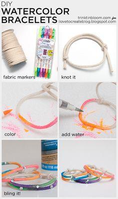 iLoveToCreate Blog: Watercolor DIY Bracelets