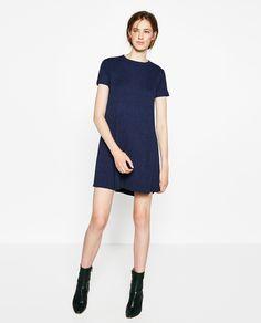 Image 1 of RIBBED MINI DRESS from Zara