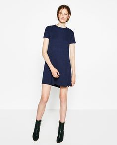 Image 1 of RIBBED MINI DRESS from Zara