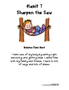 Habit 7 Sharpen The Saw - Lessons - Tes Teach