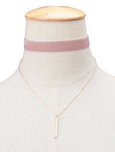 SHARE & Get it FREE | Vintage Velvet Layered Bar Choker Necklace - PinkFor Fashion Lovers only:80,000+ Items • New Arrivals Daily Join Zaful: Get YOUR $50 NOW!