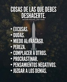 De lo que debes desacerte Spanish Inspirational Quotes, Spanish Quotes, Cool Words, Wise Words, Best Quotes, Life Quotes, Success Quotes, Quotes En Espanol, Motivational Phrases