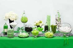 Nuts.com Green, White, and Black Candy Buffet