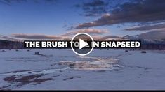 How To Use The Brush Tool In Snapseed From Google  http://videotutorials411.com/how-to-use-the-brush-tool-in-snapseed-from-google/  #Photoshop #adobe #lightroom #graphicdesign #photography