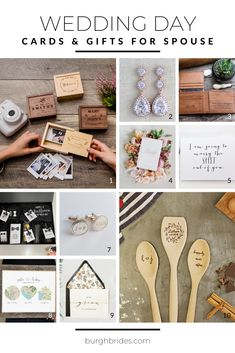 Wedding Day Gifts | Gifts for Spouse | Gifts for Bride | Gifts for Groom | Wedding Gift Ideas | Cute Wedding Day Gifts for Your Future Spouse. For more wedding ideas, visit burghbrides.com! Wedding Day Cards, Wedding Gifts For Groom, Bride Gifts, On Your Wedding Day, Wedding Favors, Wedding Ideas, Cute Cards, Personalized Gifts, Unique Gifts