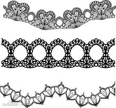 Lace design vector 51215 - by blackm_redh on VectorStock® Lace Drawing, Pattern Drawing, Bobbin Lace Patterns, Embroidery Patterns, Lace Design, Pattern Design, Lacey Pattern, Grace And Lace, Lace Tattoo