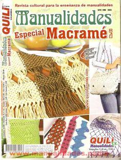 MACRAMÉ: toallas, camino de mesa, top, bolso, frutero,llaveros