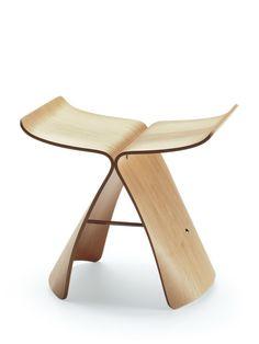 Vitra Butterfly kruk #donker #design #kruk #krukje #wood #hout #vitra #butterfly #esdoorn