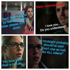 Oh Felicity, we love you!!  #Olicity #Arrow