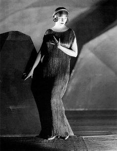 Natacha Rambova (in a Mariano Fortuny 'Delphos' pleated gown)