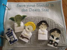 """Soft """"Jedi Quiet Book"""" with finger puppets"""