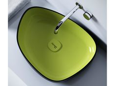 Countertop washbasin Metamorfosi Collection by Olympia Ceramica | design Gianluca Paludi