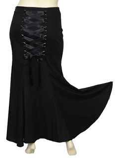 Gothic Corset Long Fishtail Morticia Maxi Skirt - Plus Size ... Shift+R improves the quality of this image. CTRL+F5 reloads the whole page.
