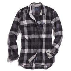Madewell Penfield Chatham Buffalo Plaid Flannel Shirt in Gray (grey black)