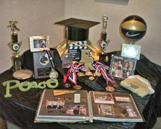 graduation memorabilia table 1 Top 5 Graduation Party Ideas & Tips