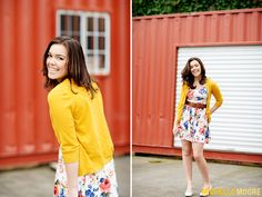 Spring Summer Senior Pictures of Bush High School student Meghan in the Fremont Urban Neighborhood Photographed by Seattle Fashion Photographer Michelle Moore