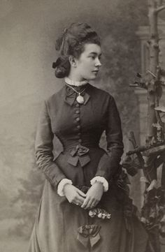 Authentic Victorian fashion. circa 1877.