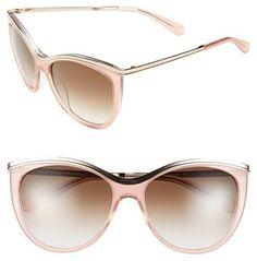 Kate Spade New York 56mm Cat Eye Sunglasses #katespade #pink #gold #rose #sunglasses #fashion