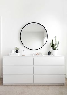 IKEA MALM dresser in white More