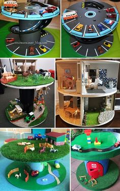 Wooden Spool Crafts, Crate Crafts, Wooden Spools, Projects For Kids, Diy For Kids, Crafts For Kids, Diy Projects Pvc Pipes, Cable Reel, Outdoor Games For Kids