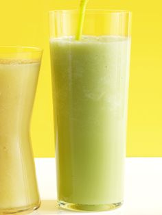 Honeydew-Almond Smoothie    Crisp honeydew is blended with nutty almond milk and sweetened with a touch of honey for a pale green treat that calls to mind warm weather and long days.