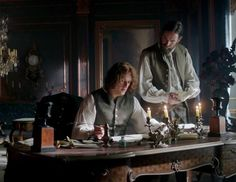 Jamie Fraser (Sam Heughan) and Murtagh (Duncan LaCroix) in Season Two of Outlander on Starz, Episode 3: Useful Occupations And Deceptions via http://kissthemgoodbye.net/PeriodDrama/thumbnails.php?album=537