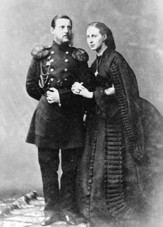 1860s (early to mid) Grand Duchess Alexandra Iosifovna and husband Grand Duke Konstantin Nikolayevich of Russia