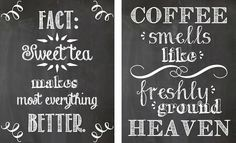 Buy one get one free, kitchen chalkboard art. cute styles that you are going to love. Kitchen Chalkboard, Chalkboard Art, Chalkboard Printable, Coffee Chalkboard, Chalk It Up, Chalk Art, Kitsch, Coffee Facts, Chalkboard Designs
