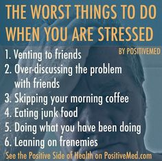 Stress Relief Techniques: 6 Worst Things To Do When You're Stressed -- Continue with the details at the image link. Work Stress, Stress Less, Stress And Anxiety, Stress Free, Anxiety Help, Anxiety Humor, School Stress, Health Anxiety, Social Anxiety