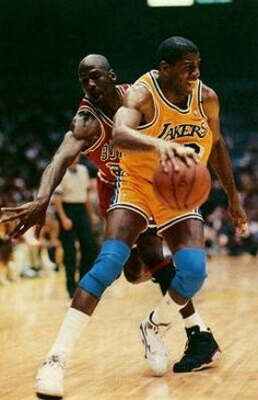 Magic Johnson and Michael Jordan