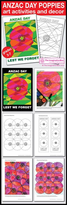 Anzac Day Coloring Pages - Poppy Art Classroom Art Projects, Art Classroom, Lessons For Kids, Art Lessons, Teaching Art, Teaching Resources, Teaching Ideas, Poppy Template, Anzac Poppy