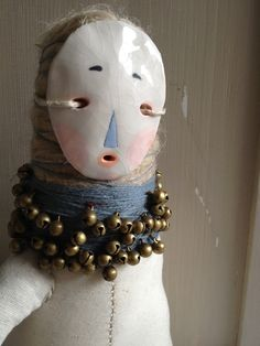 Folk art doll by Hollie L Anderson, based on the Japanese Hoko doll which protects children from the spirits of illness.