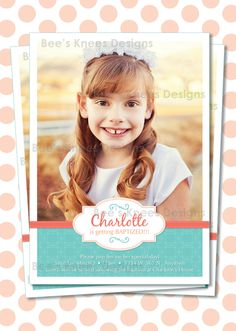 LDS Baptism Invitation Girl Great to be 8 by beeskneesdesignshop  Find more LDS greats at: MormonFavorites.com