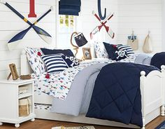 I love the Pottery Barn Kids Sailboat Bedroom on potterybarnkids.com