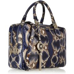 0778864a88 Versace Structured snake-effect leather tote (33 600 UAH) ❤ liked on  Polyvore