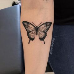 Butterfly Tattoos On Arm, Butterfly Tattoo Meaning, Butterfly Tattoo Designs, Flower Tattoos, Realistic Butterfly Tattoo, Paisley Tattoos, Ribbon Tattoos, Dainty Tattoos, Pretty Tattoos