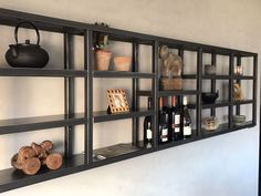Shelves, Industrial House, Deco, Kitchen Decor, Kitchen Witch, New Homes, Shelving Unit, Home Decor, Kitchen