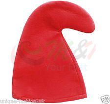 RED SMURF HAT GNOME HAT /& BRACES SET FANCY DRESS PARTY