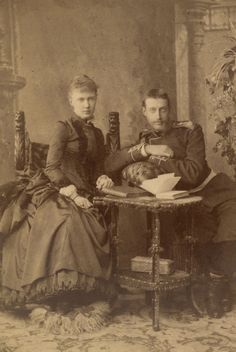 Grand Duke Konstantin Konstantinovich and Grand Duchess Elisabeth Mavrikievna  c.1886.
