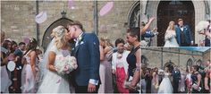 Confetti time for Sophie and John's in Bamburgh