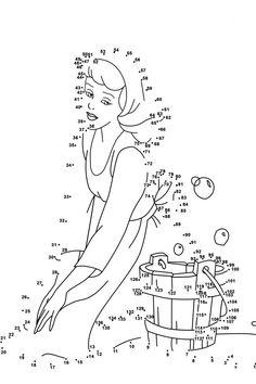 dot to dot printables princess activity shelter - Disney Princess Activities
