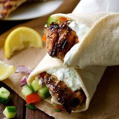Greek Chicken Gyros with Tzatziki- the marinade is so good I use it even when I'm not making gyros! Great for grilling!