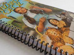 Notebook, 4.00 X 7.50, 90 pages, VHS Video Box, Upcycled Notebook, Handmade Notebooks, VHS Blank Book, Movie Notebook, The Wizard of Oz by LeeEmporium on Etsy