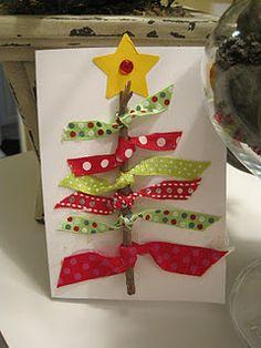 Ribbon christmas tree (stick).