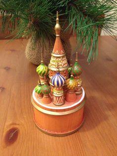 Church Folk Art  Russian Folk Art handmade by SageandDeesVintage