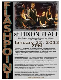 Flashpoint at Dixon Place January 22, 7 PM