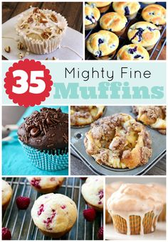 35 Mighty Fine Muffin Recipes via S. Delicious Desserts, Dessert Recipes, Yummy Food, Biscuits, Muffin Tin Recipes, Savarin, Cupcake Cakes, Cupcakes, Coffee Cake