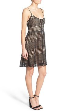 Lace-Up Crochet Overlay Dress ~ $35 from Nordstrom!