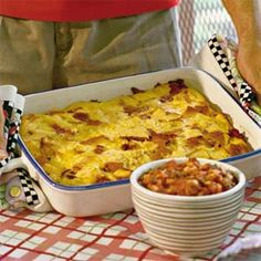 Breakfast casseroles are one of our all-time favorite brunch foods. Assemble this hearty dish the night before, and bake the next morning. For more recipes like this, see our complete collection of breakfast and brunch recipes.